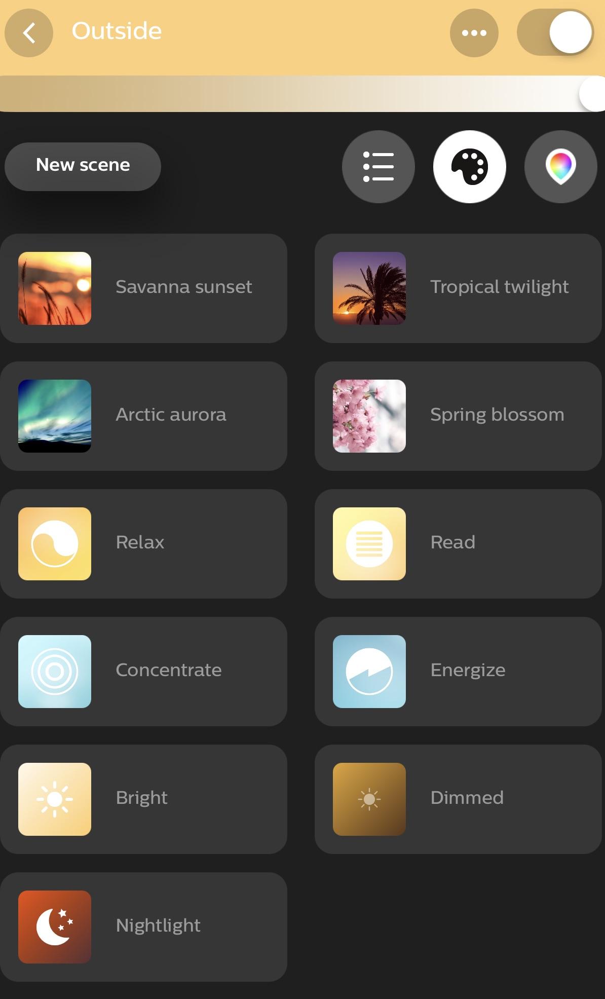 Philips Hue app light control