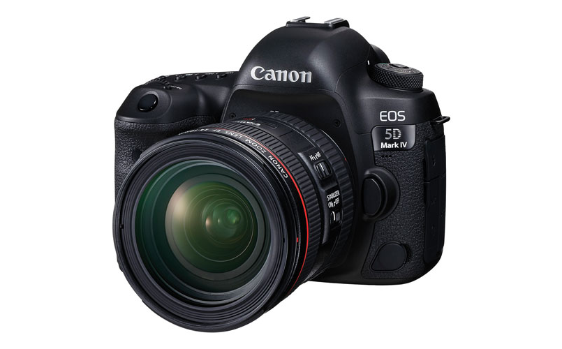 A photo of the Canon EOS 5D Mark IV DSLR Full Frame DSLR Camera with EF 24-70mm F4L IS USM Lens