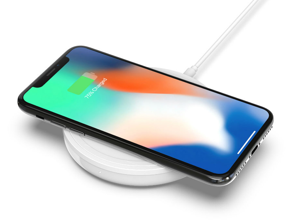 Iphone X on a wireless charger