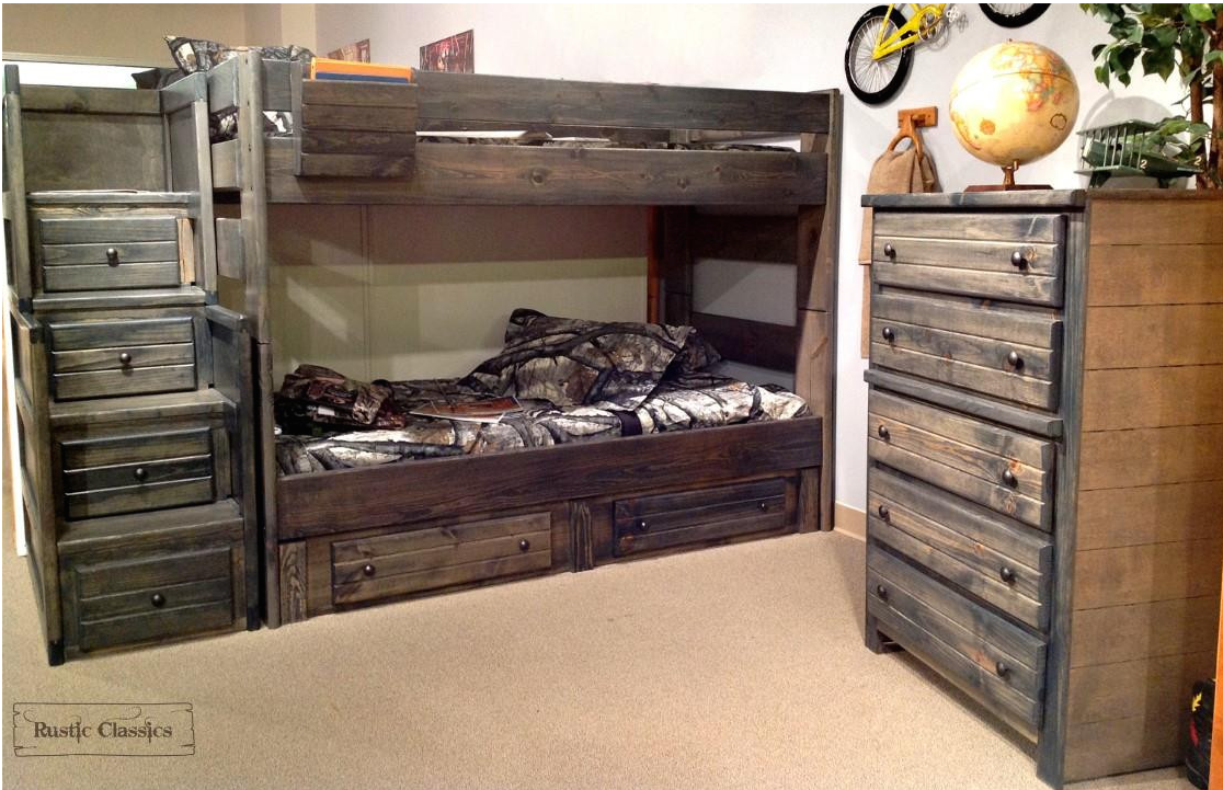 toddler bed - rustic classics twin bunk bed