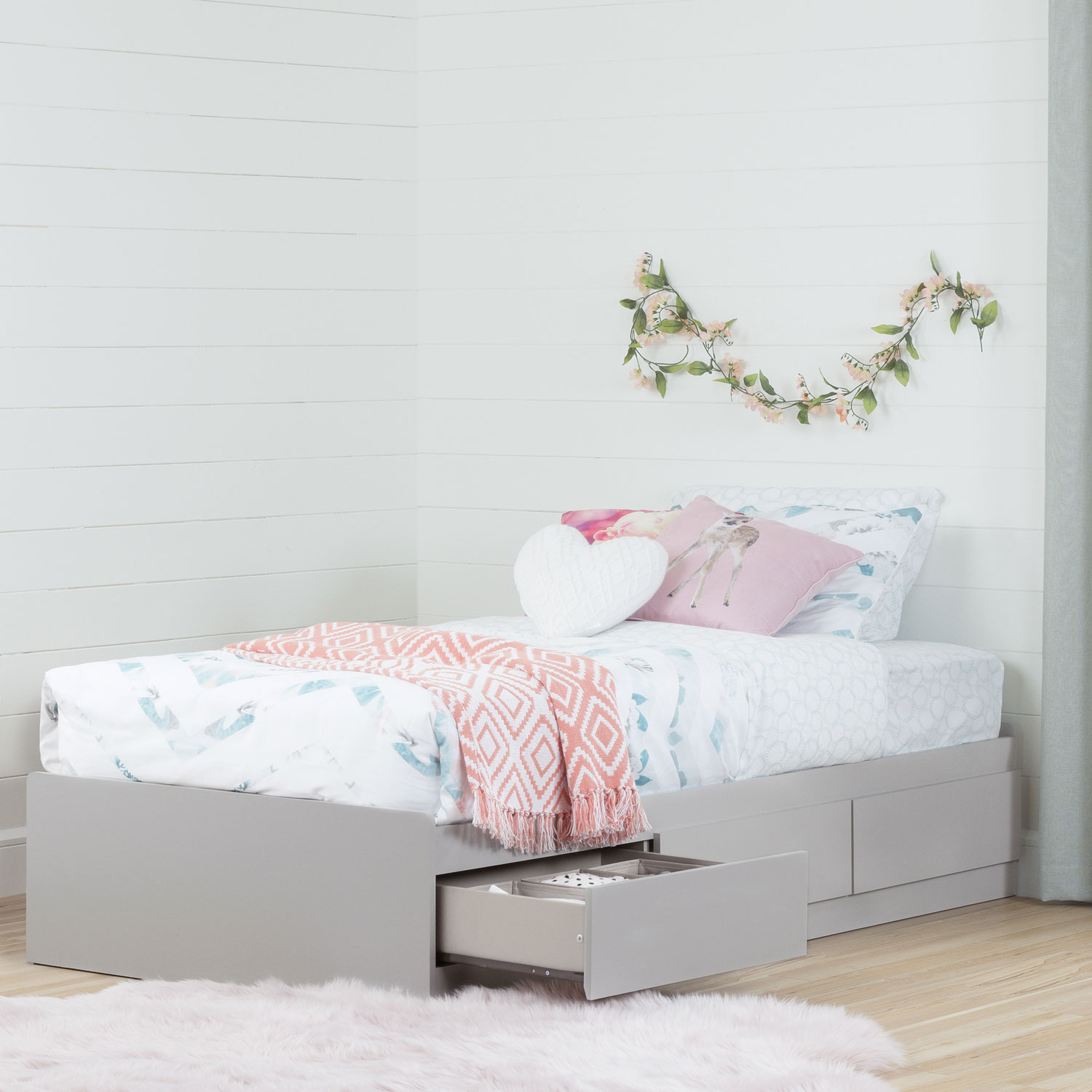 toddler beds - south shore vito storage bed twin