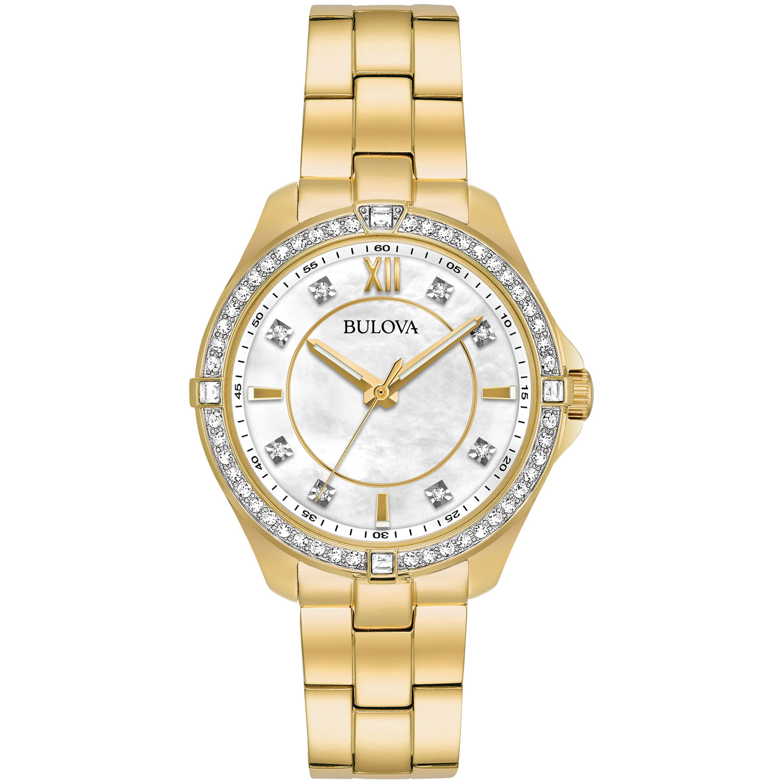 women's gold bulova watch