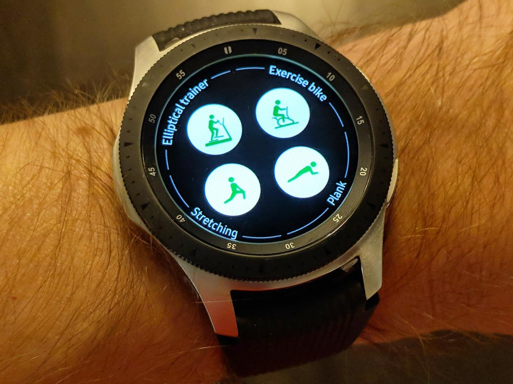 exercise app on galaxy watch