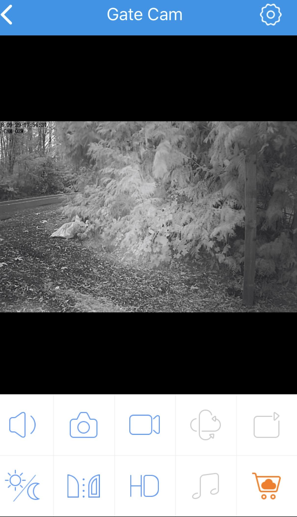Gate cam night vision