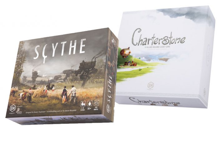 Charterstone and Scythe are great leisure board games for autumn