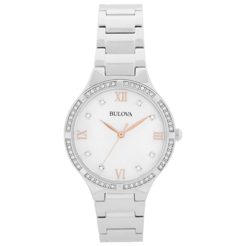 women's silver bulova watch