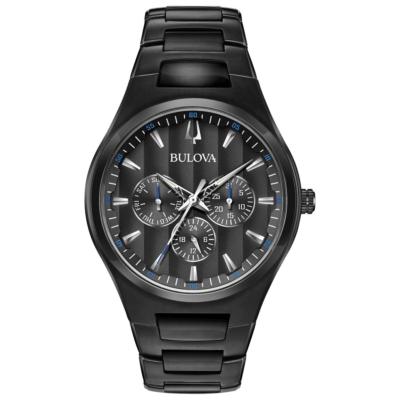 Men's Bulova black dress watch