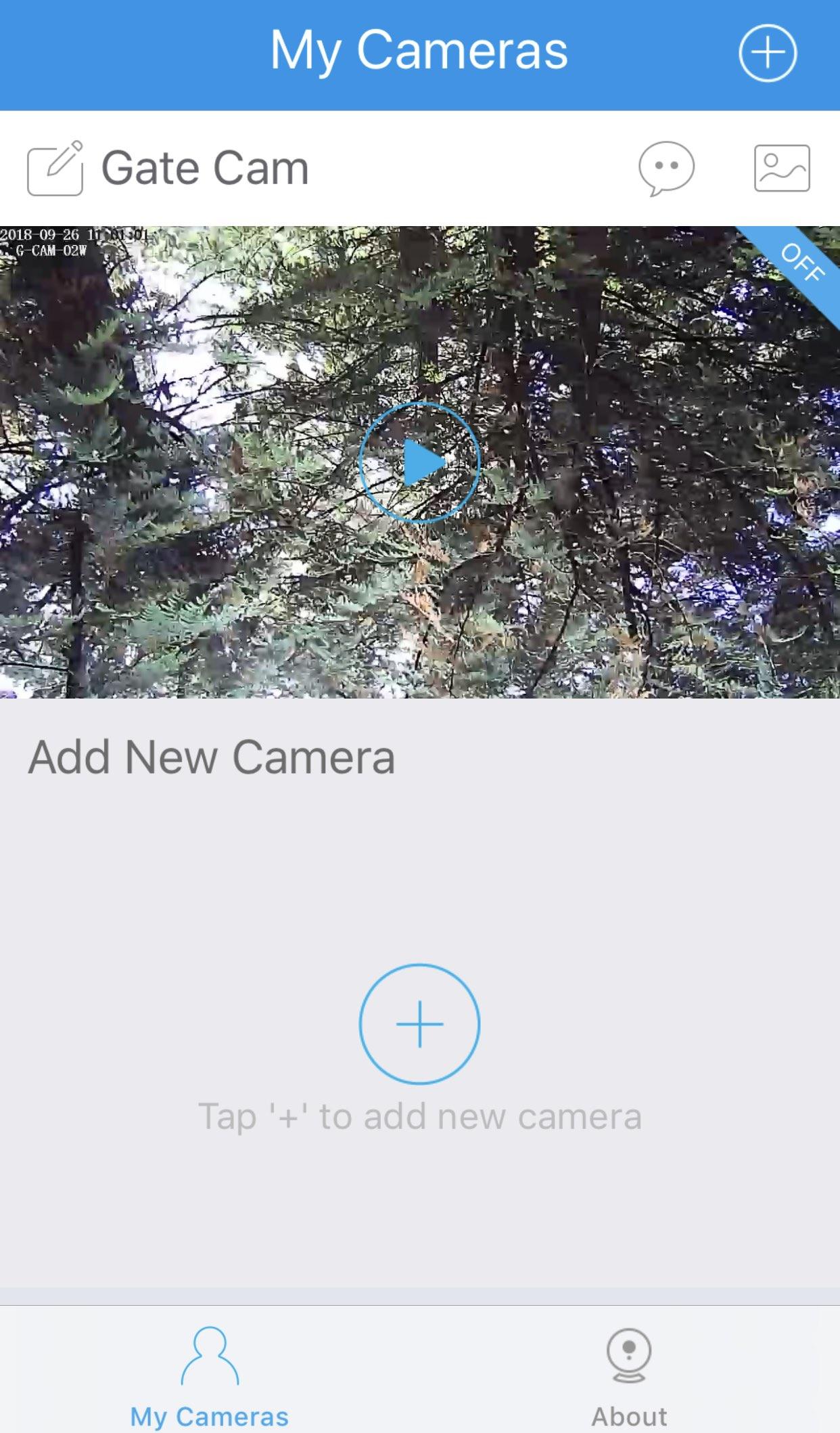ismartgate camera app screen