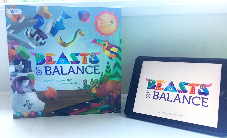 Beast of Balance - board game and iPad app view