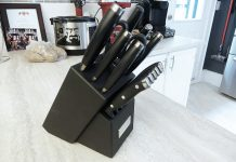 cuisinart elite pro knife set - side view