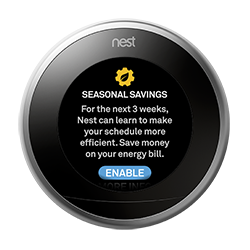 Nest Thermostat Energy Savings