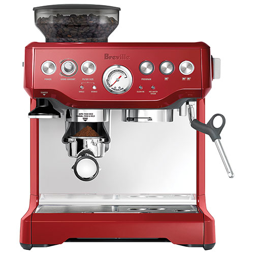 12 days of christmas - breville barista express espresso machine cranberry red