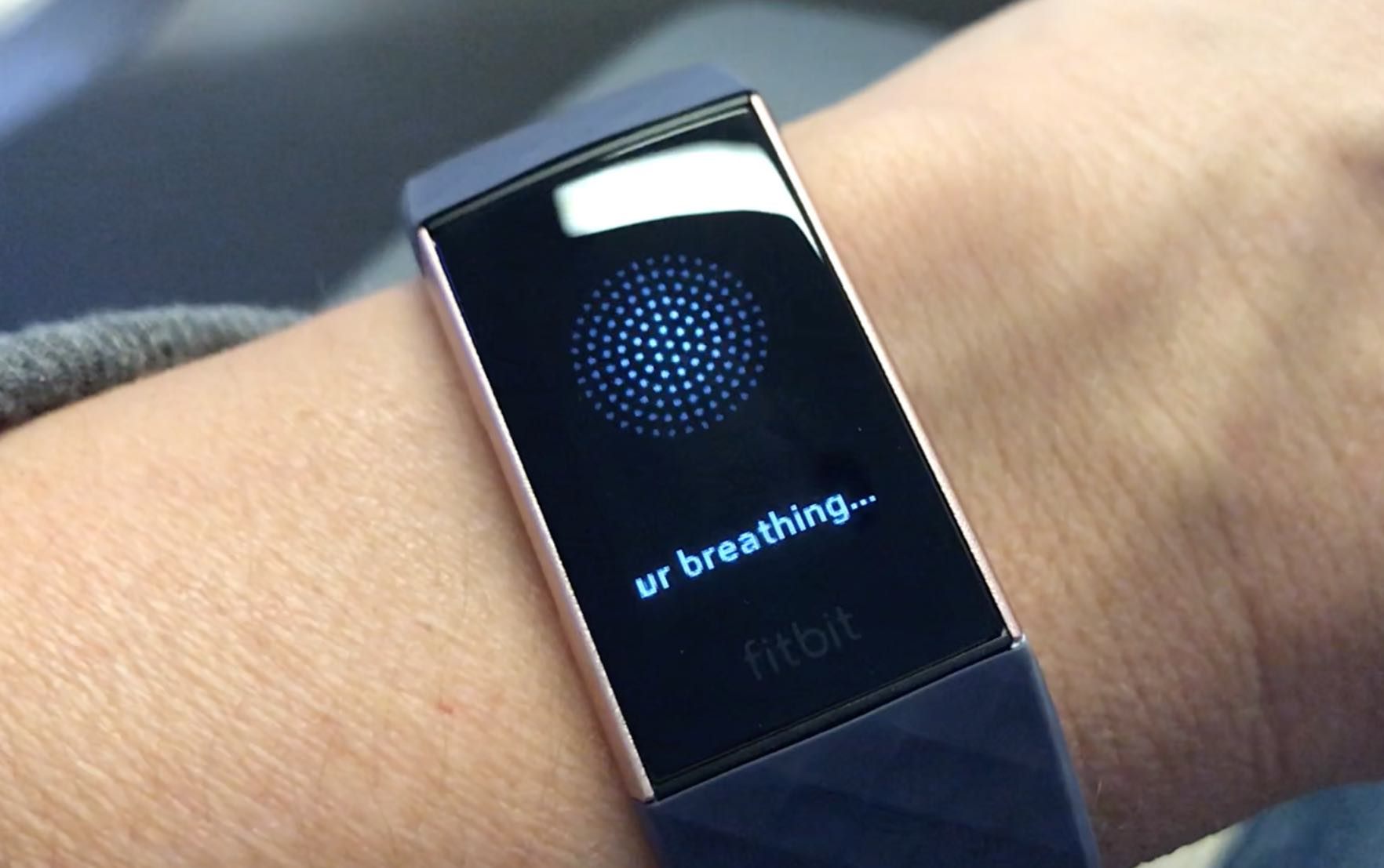 meditate fitbit charge 3