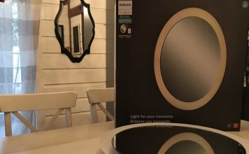 Philips Hue Lighted Bathroom Vanity Mirror