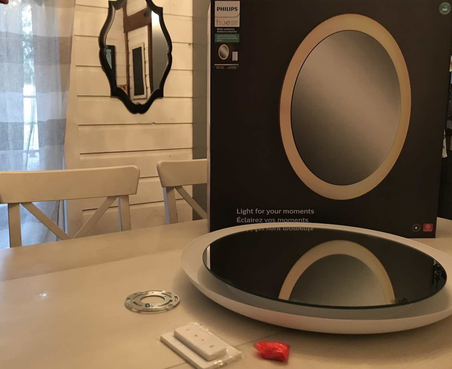 Philips Hue Lighted Bathroom Vanity Mirror
