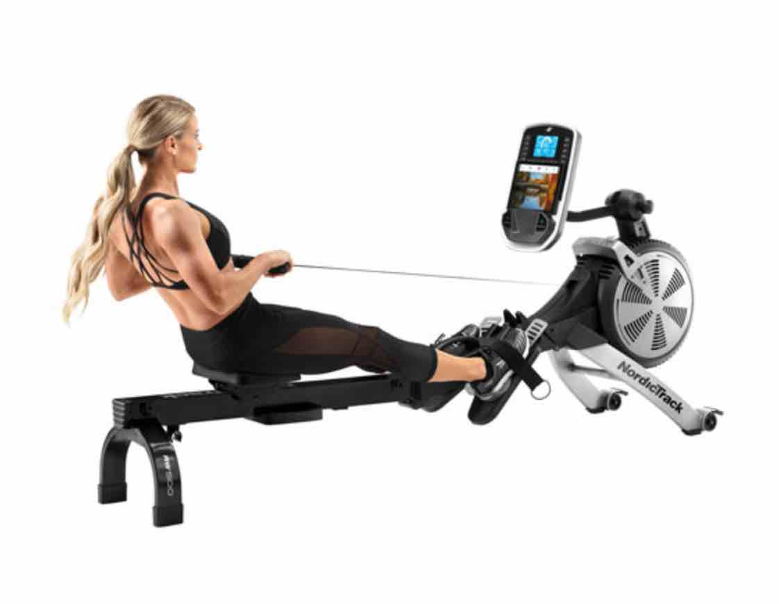 Connected rowing machine