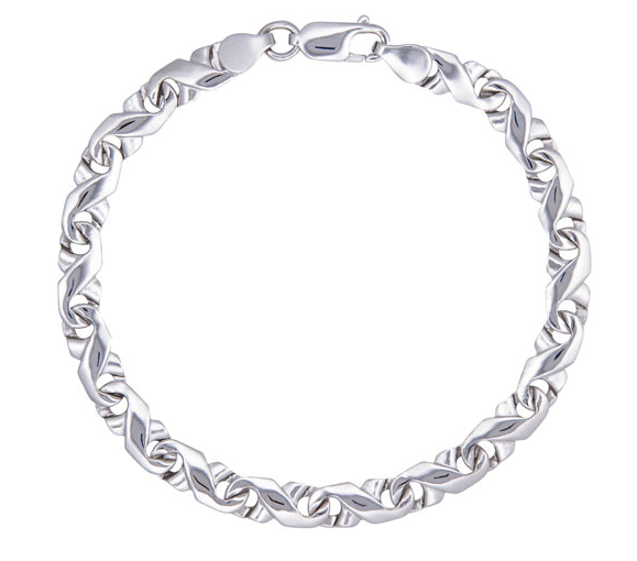Le Reve Collection Link Chain Bracelet in Sterling Silver