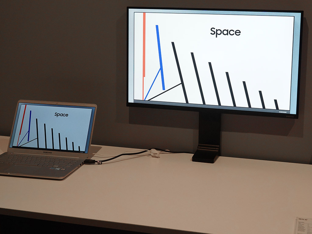 Up Close With The Samsung Space Monitor At Ces 2019 Best
