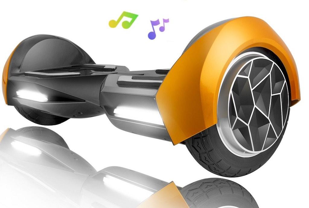 """XPRIT 8"""" Gold Self-Balancing Hoverboard"""