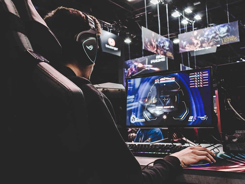Photo of a man gaming