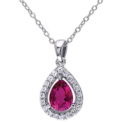 ruby pendant teardrop birthstone jewelry