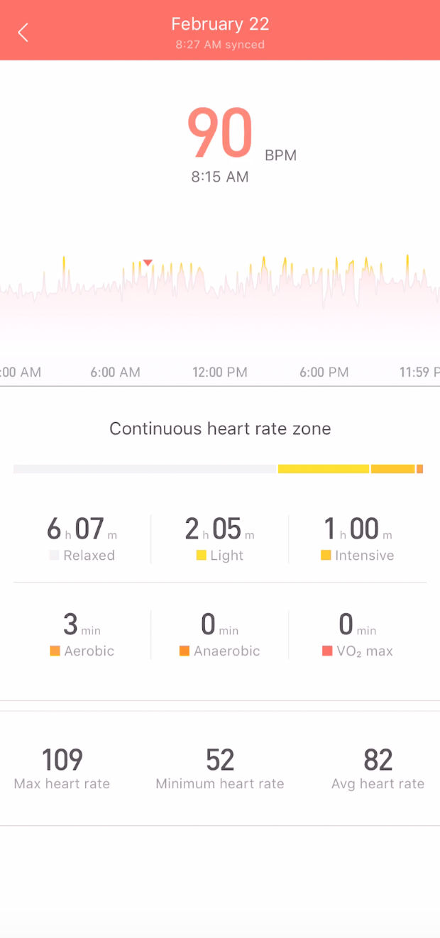 Amazefit Bip Heart rate monitoring