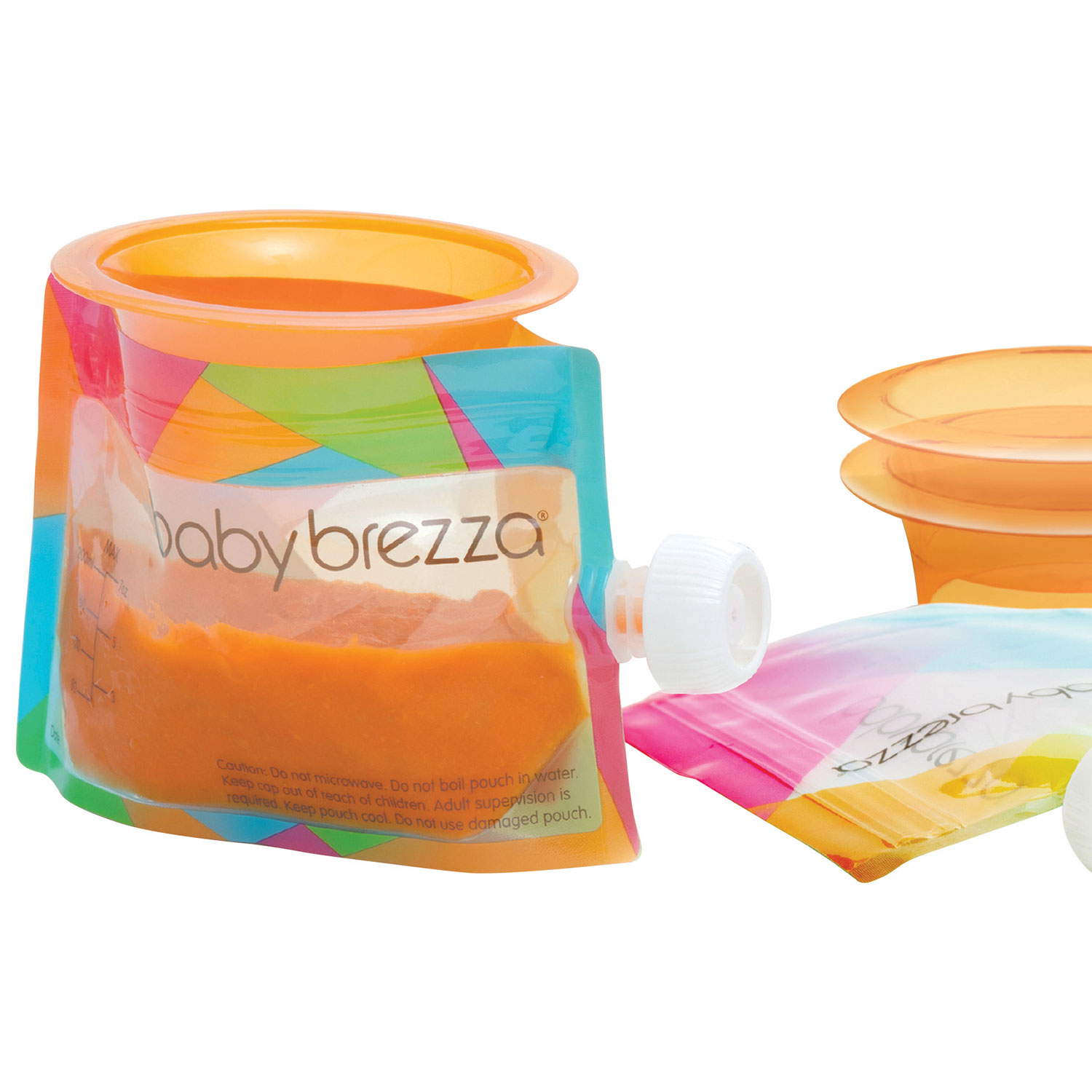 baby brezza overview - baby brezza reusable food pouches