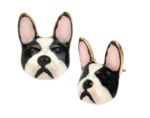 betsey johnson bulldog earrings