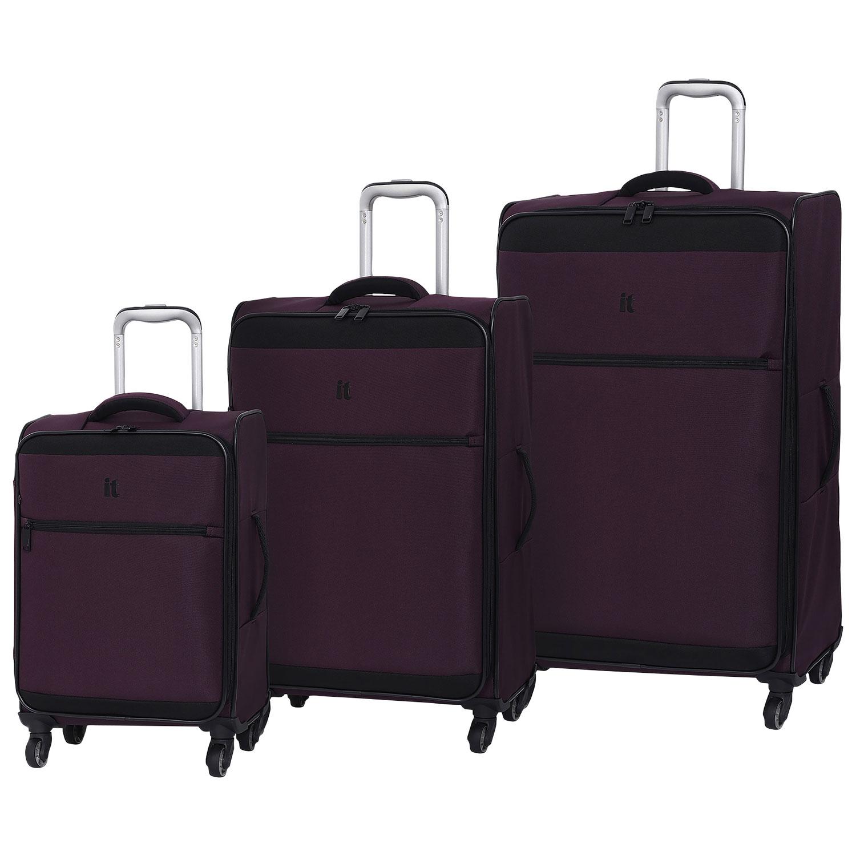 it luggage guardian 3 piece soft side blackberry