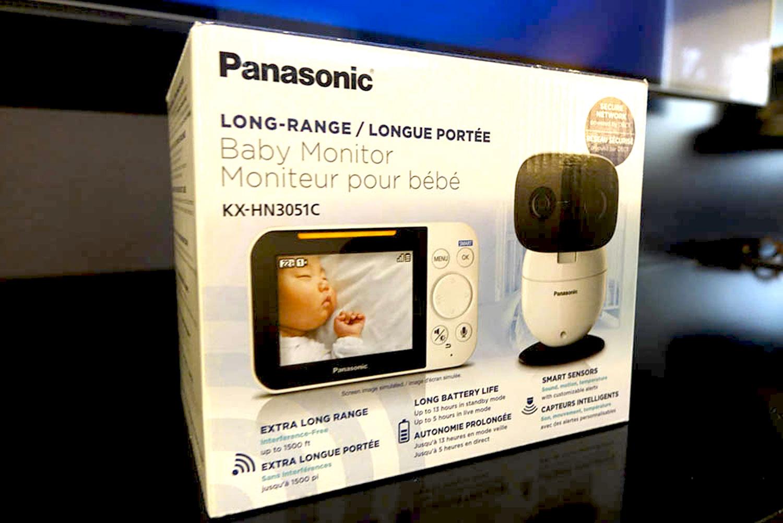 panasonic baby monitor review - Panasonic long-range baby monitor - box
