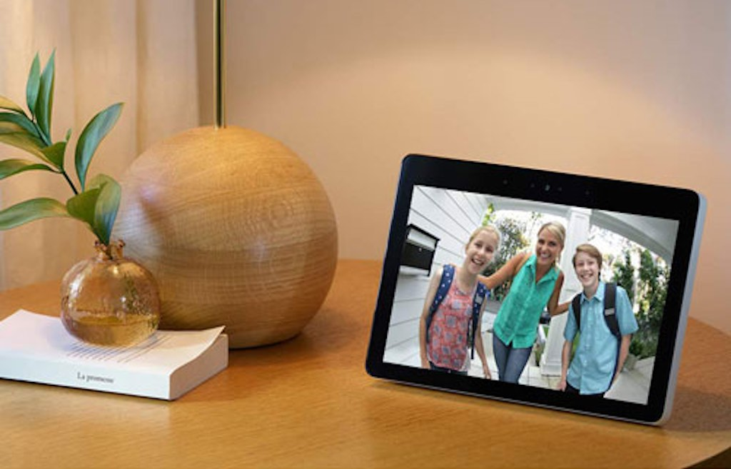 Amazon Echo Show on a console table