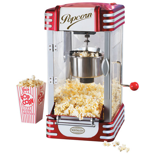 Popcorn family movie night