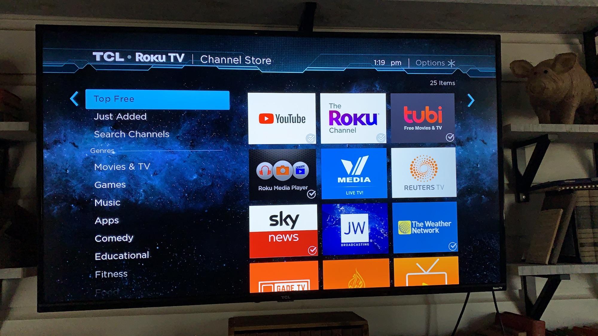 TCL 4 Series Roku menu