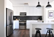 modern appliances in kitchen