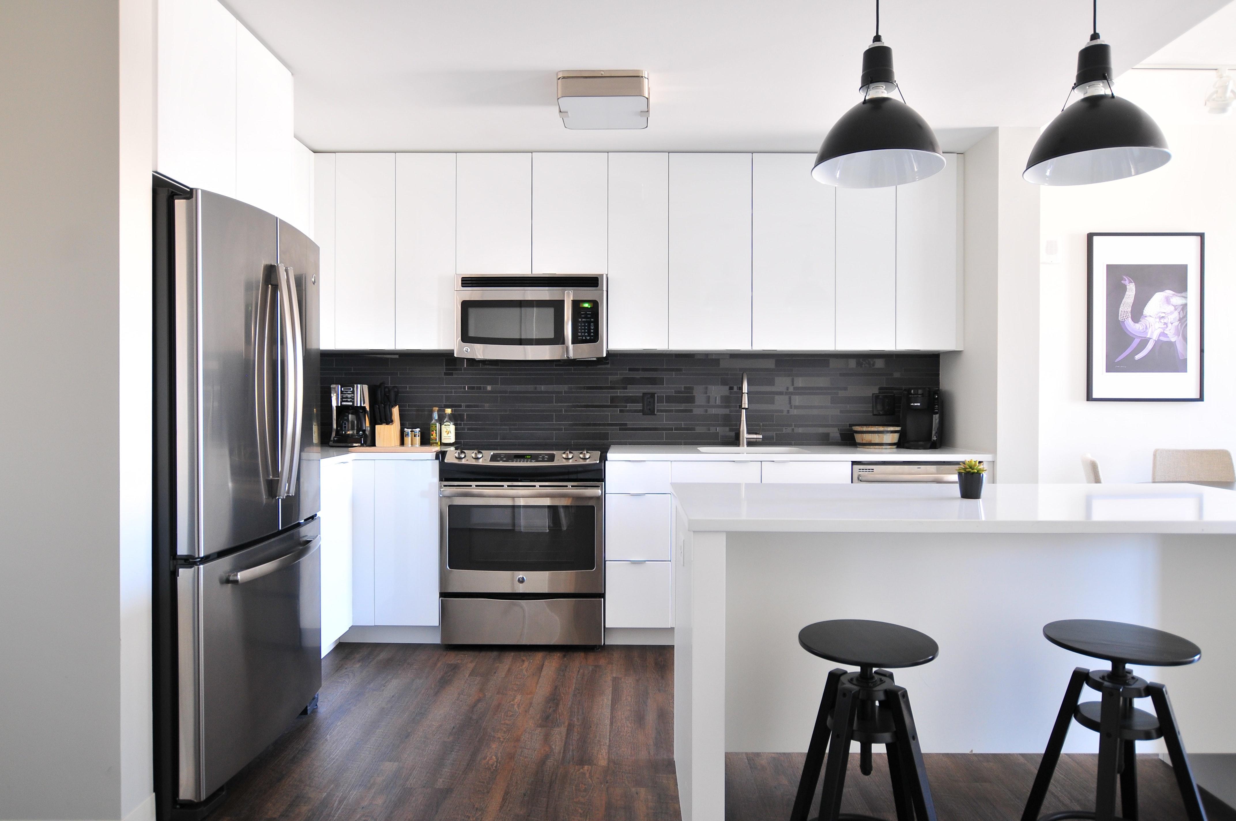 modern appliances in kitchen