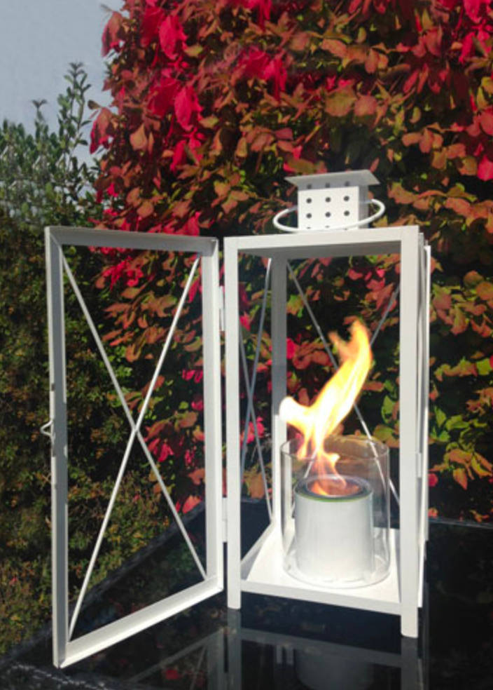 warm up the patio with outdoor fire lantern