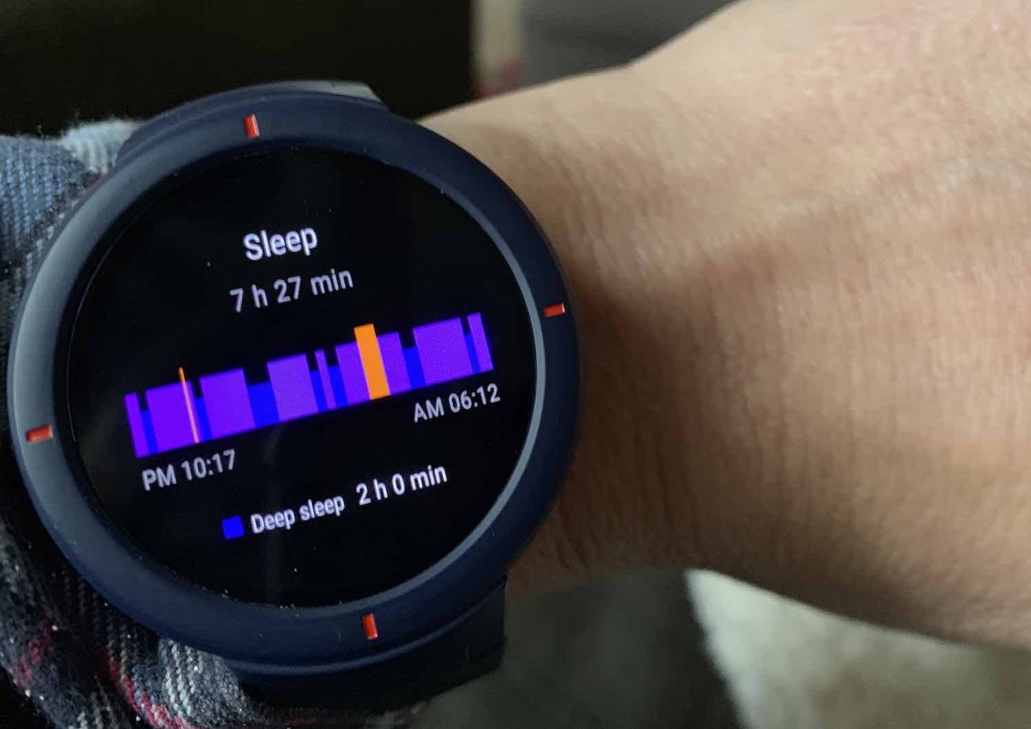 Amazfit Verge Sleep tracking