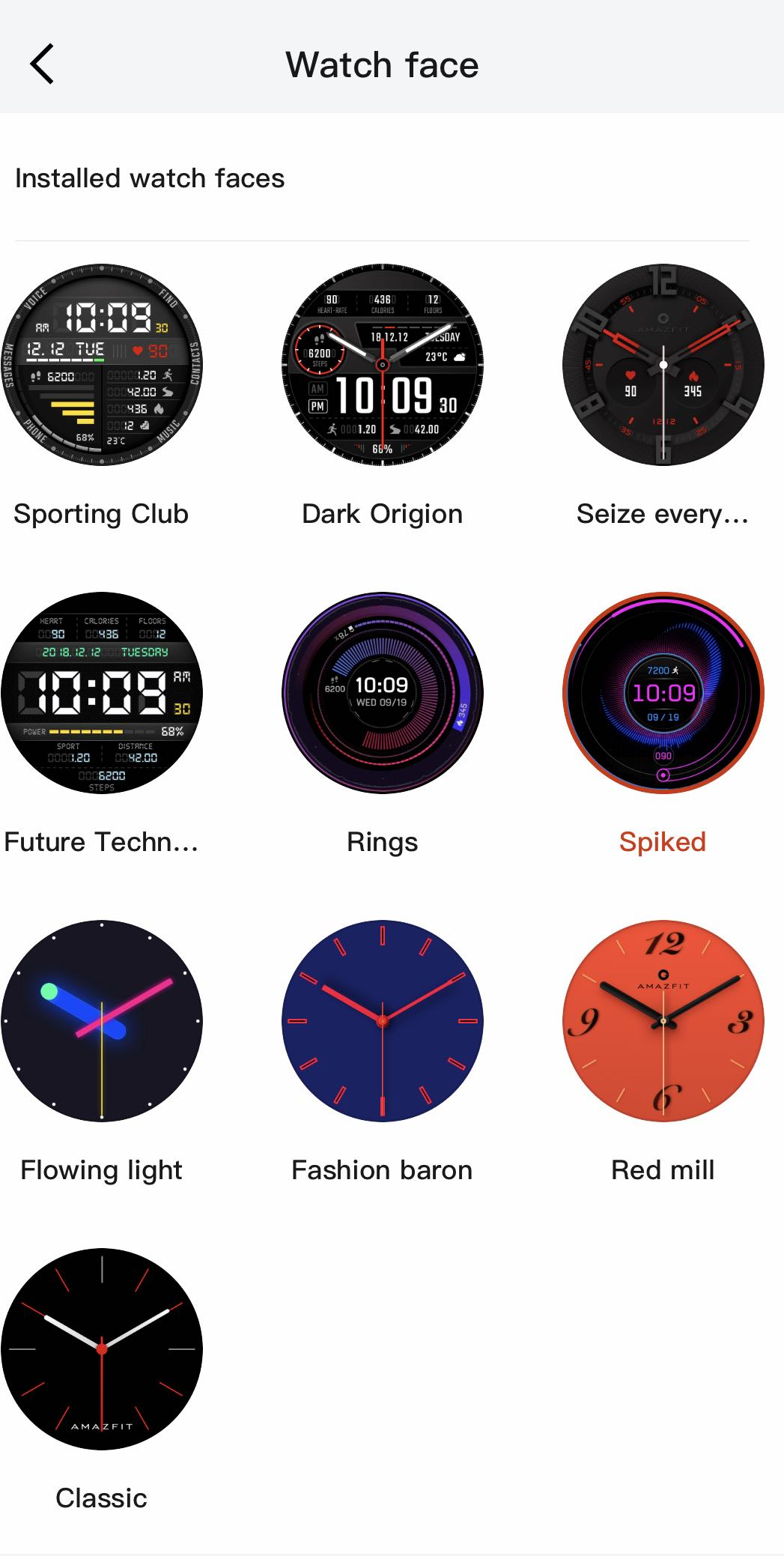 Amazfit Verge watchfaces