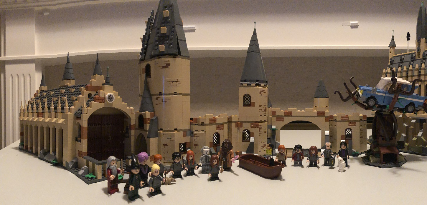 LEGO Harry Potter Great Hall and Whomping Willow Together