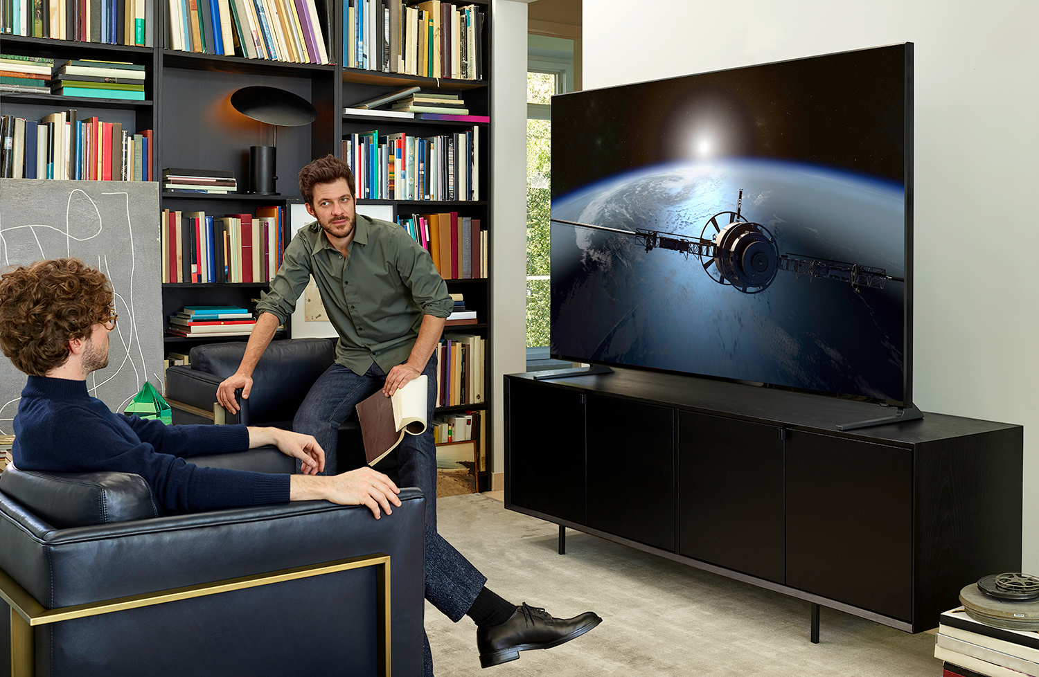 Enter for a chance to win a Samsung QLED 8K big screen TV