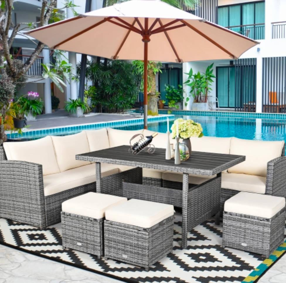 patio set for family