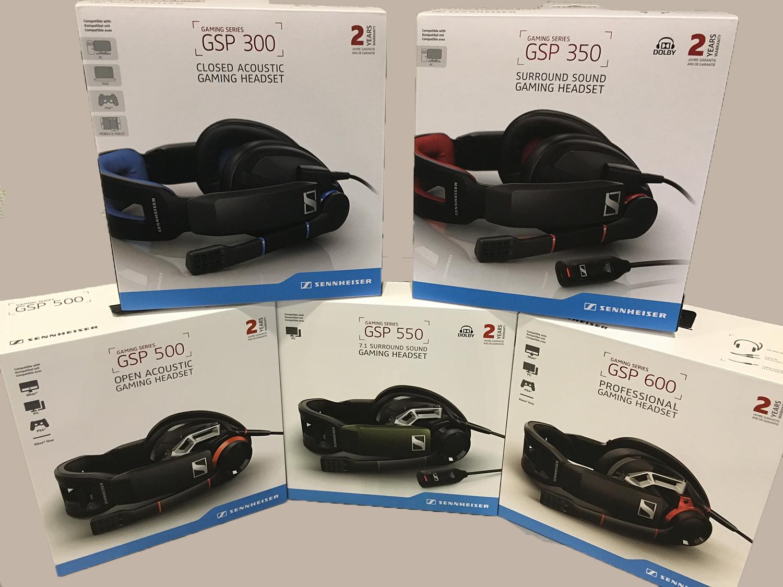 Sennheiser GSP gaming headsets