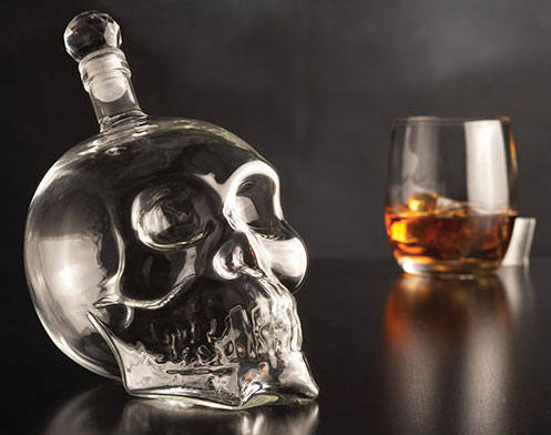 game of thrones viewing party - skull decanter
