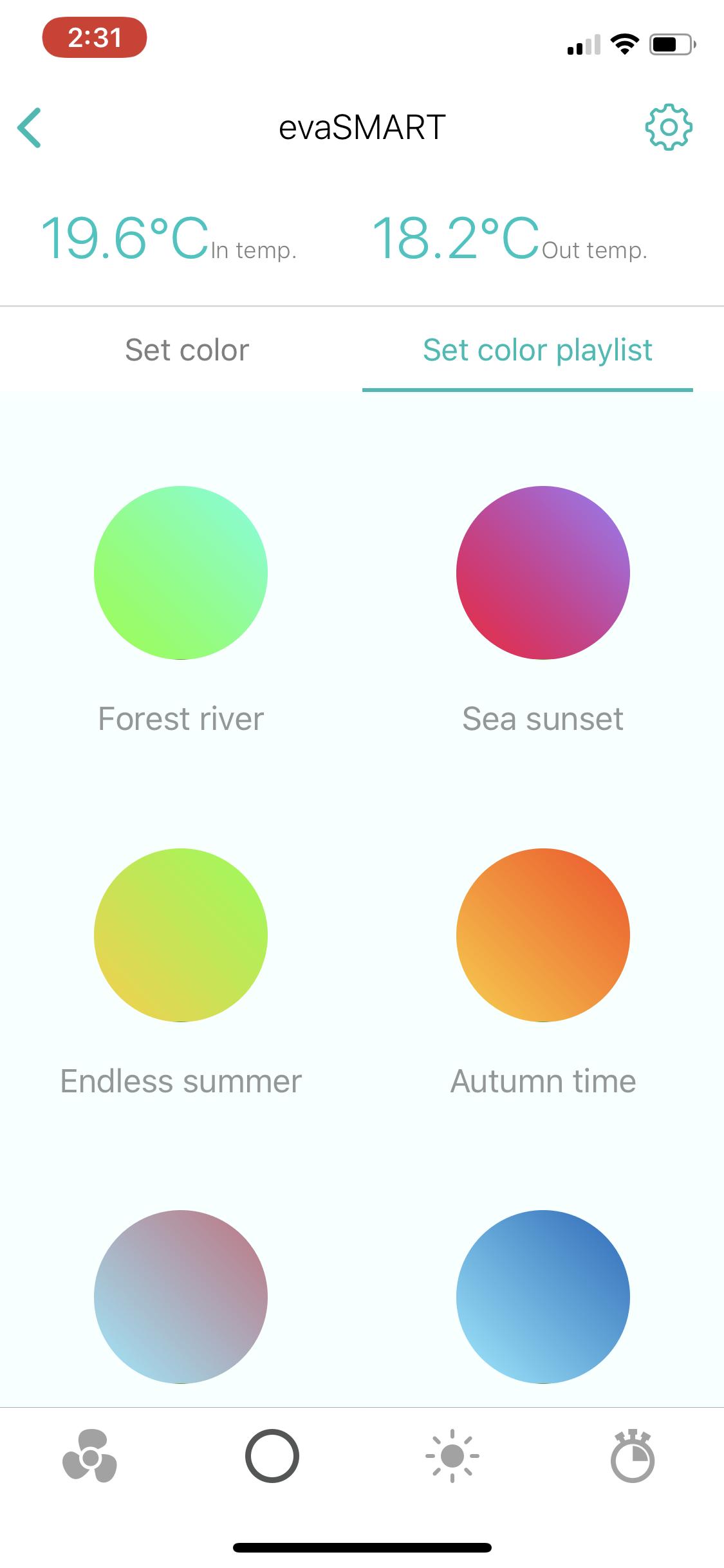 evaSMART colours
