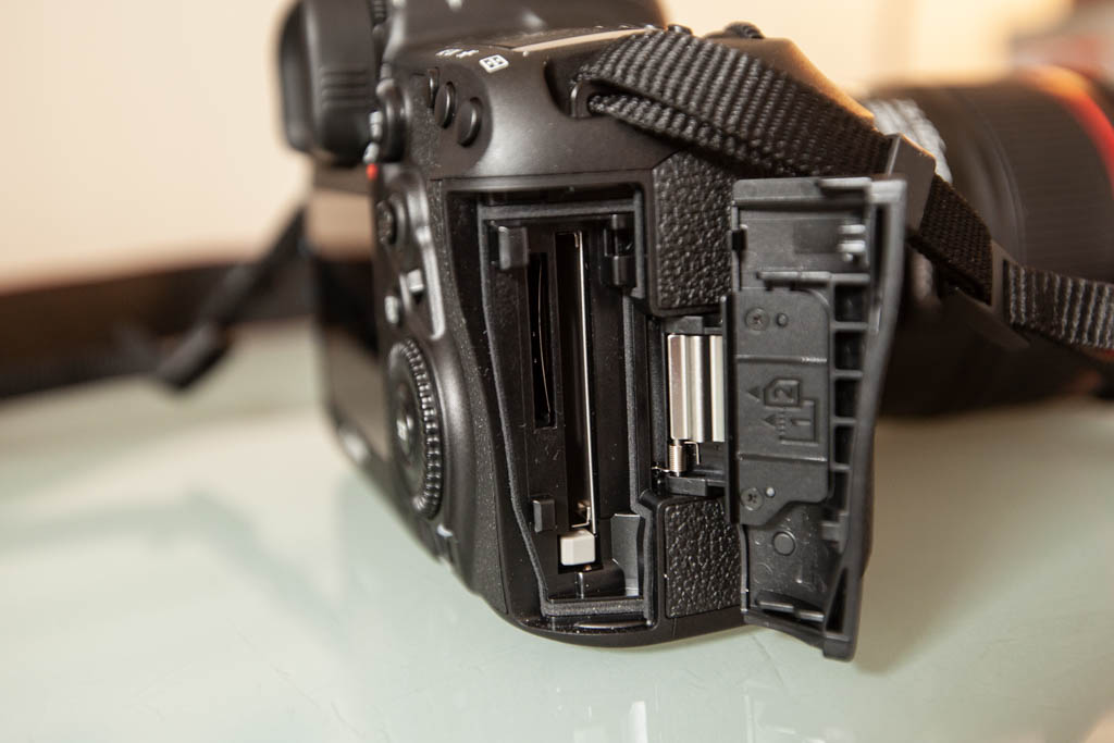 Canon 5D Mark IV two card slots: one for CF cards and one for SD cards