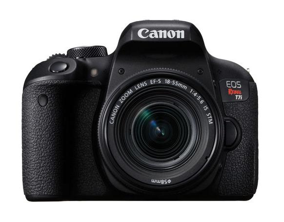 Canon EOS Rebel T7i DSLR Camera with 18-55mm f:4.5-5.6 IS STM Lens Kit