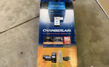 Chamberlain garage door, wifi, smart, phone, review