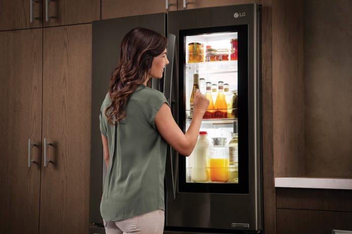 moving day - lg instaview fridge