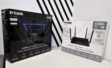 On the left is the D-Link AC3000, on the right is the D-Link AC2000+.
