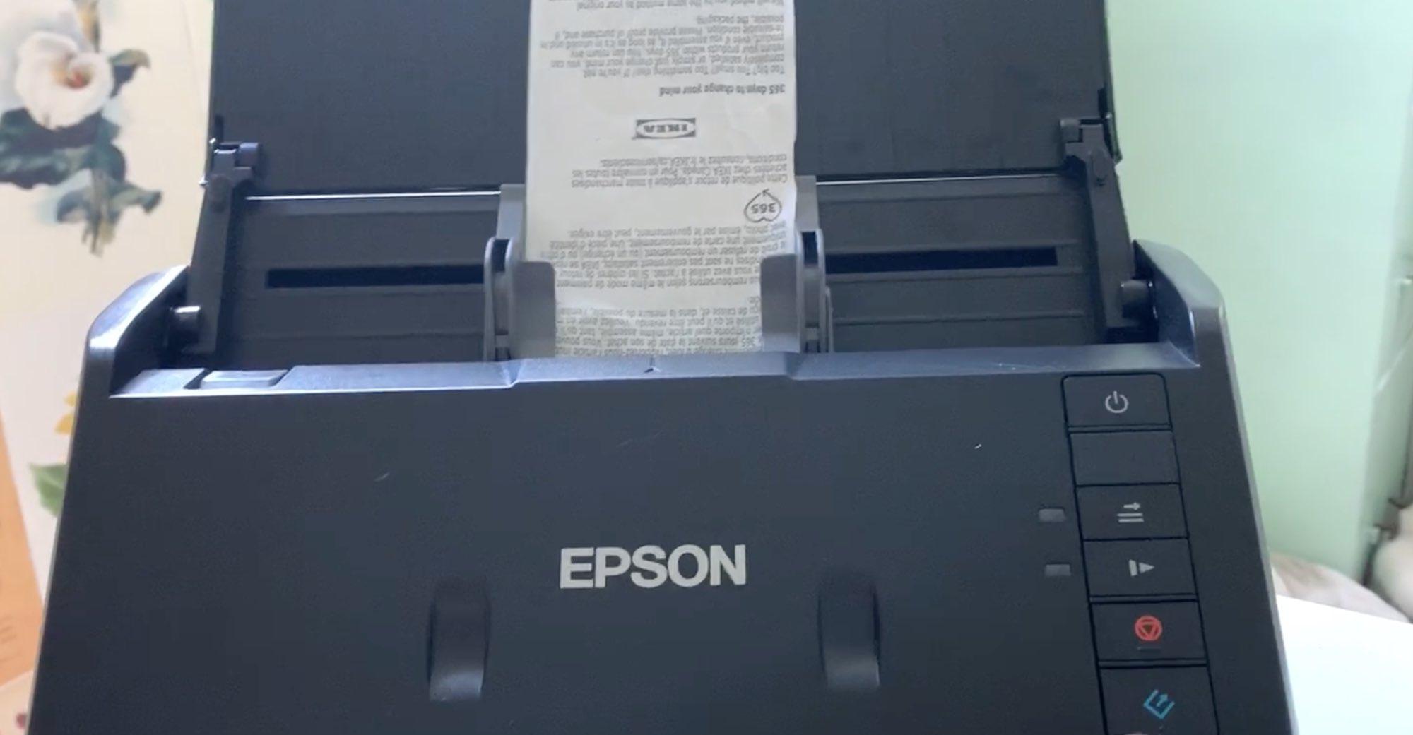 Epson scan receipts